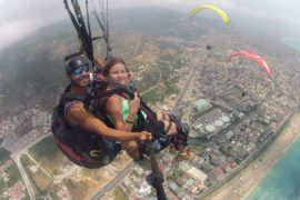 Tandem Paragliding in Alanya Antalya Turkey with ENG Air via Flying Mammut
