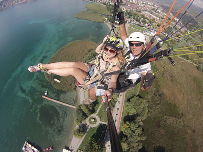 Tandem Paragliding in Ohrid Macedonia via Flying Mammut