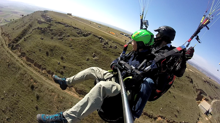 Tandem Paragliding in Madrid Spain by Ikaro Parapente via Flying Mammut