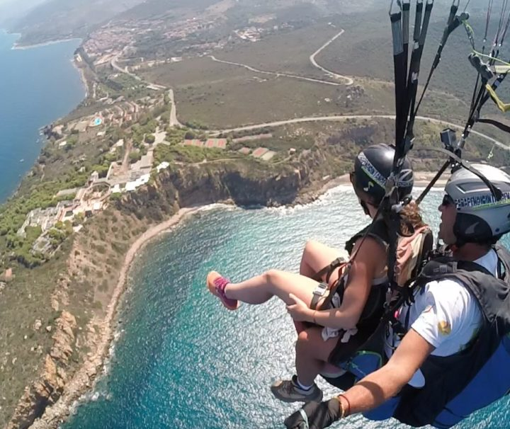 Tandem Paragliding in Palermo Sicily Italy by Parapendio In Tandem via Flying Mammut